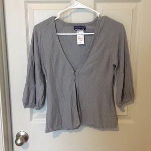 Light grey Patagonia cardigan. Size S.